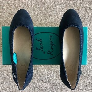 NWT Jack Rogers Navy Suede Flats (6.5)